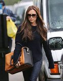 Victoria Beckham walked in London.
