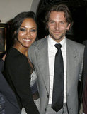 Bradley Cooper and his ex Zoe Saldana got award season started at a December Silver Linings Playbook event in LA.