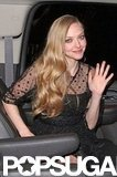 Amanda Seyfried changed out of her gown to celebrate the SAGs at the Chateau Marmont.