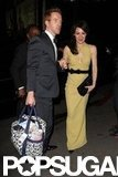 Homeland's Damian Lewis and his wife, Helen McCrory, arrived at the Chateau Marmont after the SAGs.