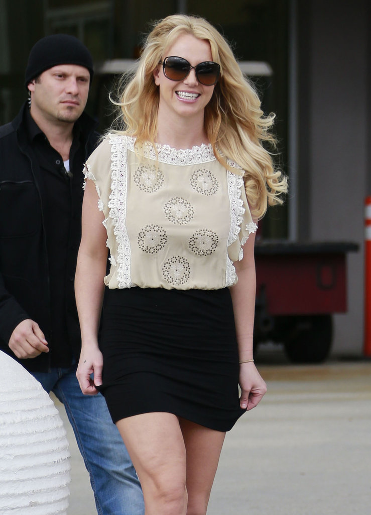 Britney Spears Puts Her Best Foot Forward For a Smiley Sunday