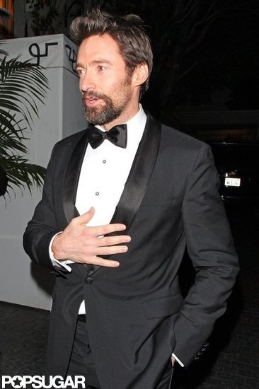Hugh Jackman left the Chateau Marmont in LA.