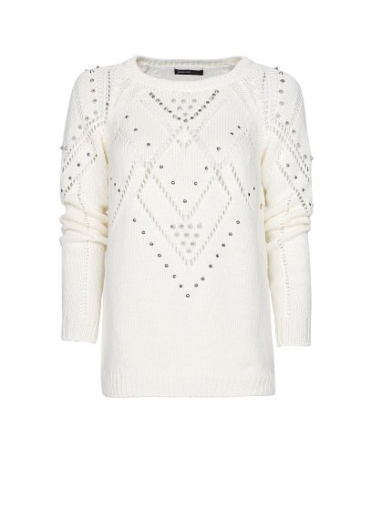 Stud detailing gives this Mango embellished sweater ($80) an edgy touch.