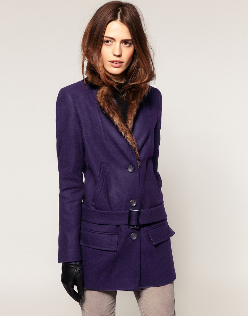 Between the luxe faux-fur collar and deep purple hue, we can't get enough of this polished ASOS wool belted coat ($68, originally $149).