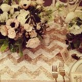 Make Your Tablescapes Memorable With Sequined Chevron Table Runners