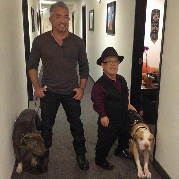 Cesar Millan and Gabriel Von Thienen shared their love for all things pit bull. Source: Twitter user ElPerro