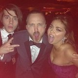 Sarah Hyland joked (we hope) about cooking some meth with Aaron Paul. Source: Instagram user therealsarahhyland