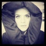 Eliza Coupe put on her best Vampire Diaries face. Source: Instagram user elizamuthafuckincoupe