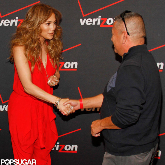 Jennifer Lopez Meets a Few Lucky Fans Following Parker's Debut