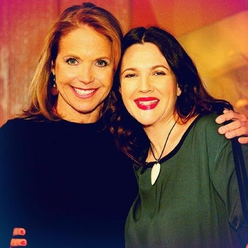 Katie Couric had Drew Barrymore as a guest on her show. Source: Twitter user katiecouric