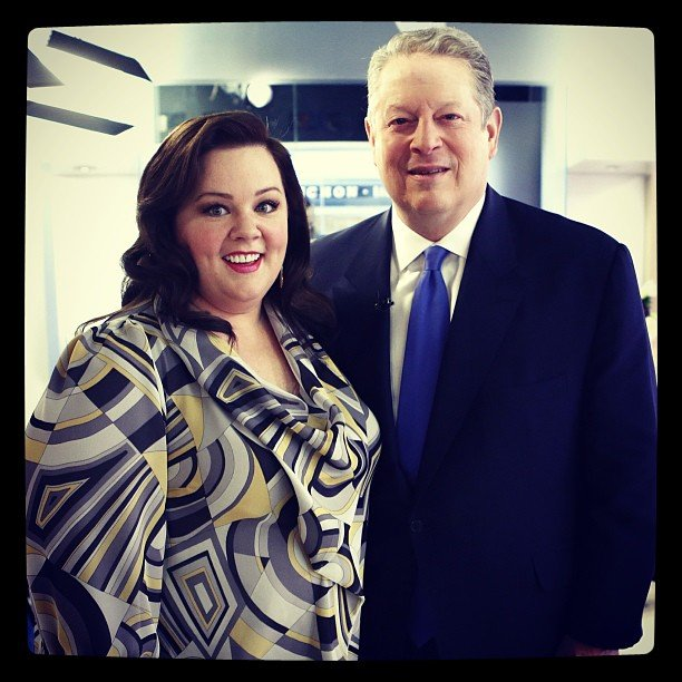Melissa McCarthy guested on the Today show and met Al Gore. Source: Instagram user todayshow