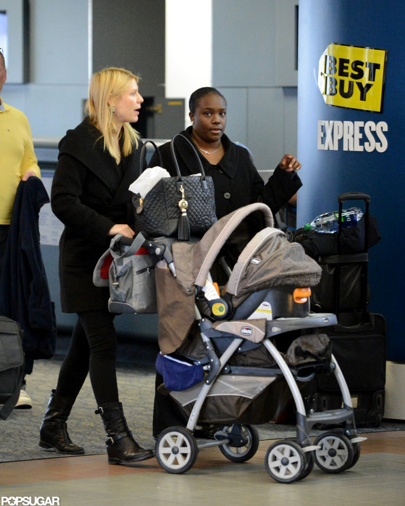 Claire Danes was accompanied by baby Cyrus Dancy at LAX.