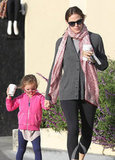 Jennifer Garner Breaks From Award Season For Starbucks With Sera