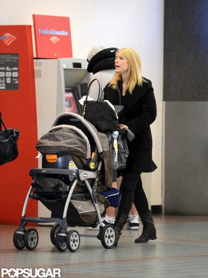 Claire Danes pushed Cyrus Dancy in his stroller as the pair traveled out of LAX.