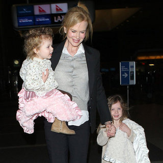 Nicole Kidman With Her Daughters in LA (Pictures)