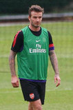 David Beckham returned to the soccer field.