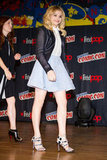 Chloë Moretz's whimsical Nicholas Kirkwood lace-up sandals totally changed her girlie look at 2012 Comic-Con.