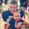 Babies Wearing Football Gear