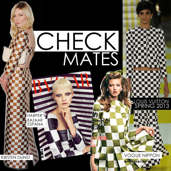 Celebrities Wearing Louis Vuitton&#039;s Spring 2013 Check Print