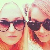 Lauren Conrad and a friend posed in their stylish shades. Source: Instagram user laurenconrad