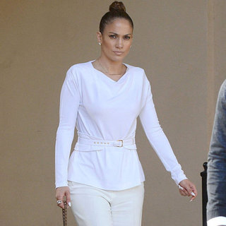 Jennifer Lopez Wearing All White For Lunch Meeting