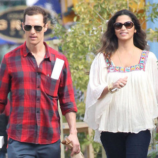 Matthew McConaughey With Camila Alves on Her Birthday
