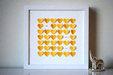 "Suzy Shoppe ""You Are My Sunshine"" Framed Hearts"