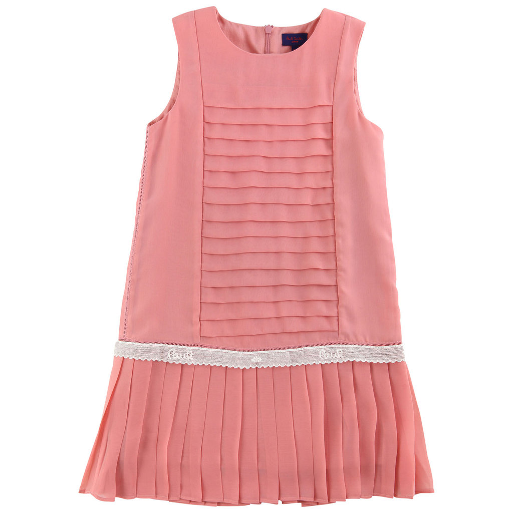 Paul Smith Junior Pleated Dark Pink Dress ($192)