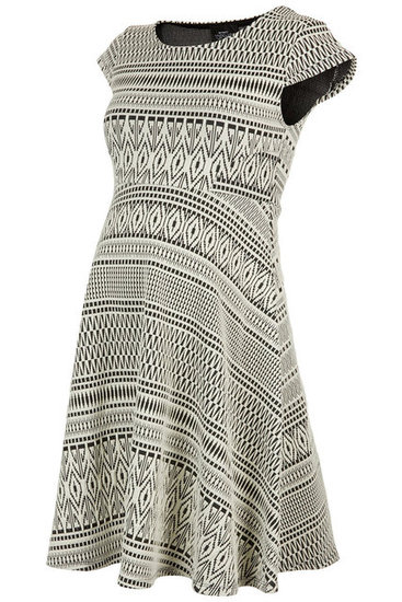 Topshop Jacquard Flippy Dress