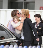 Keith Urban greeted Nicole Kidman with a kiss at Sydney Airport.