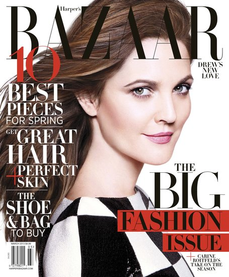 Cover Girls: Drew Barrymore on Harper's Bazaar March 2013