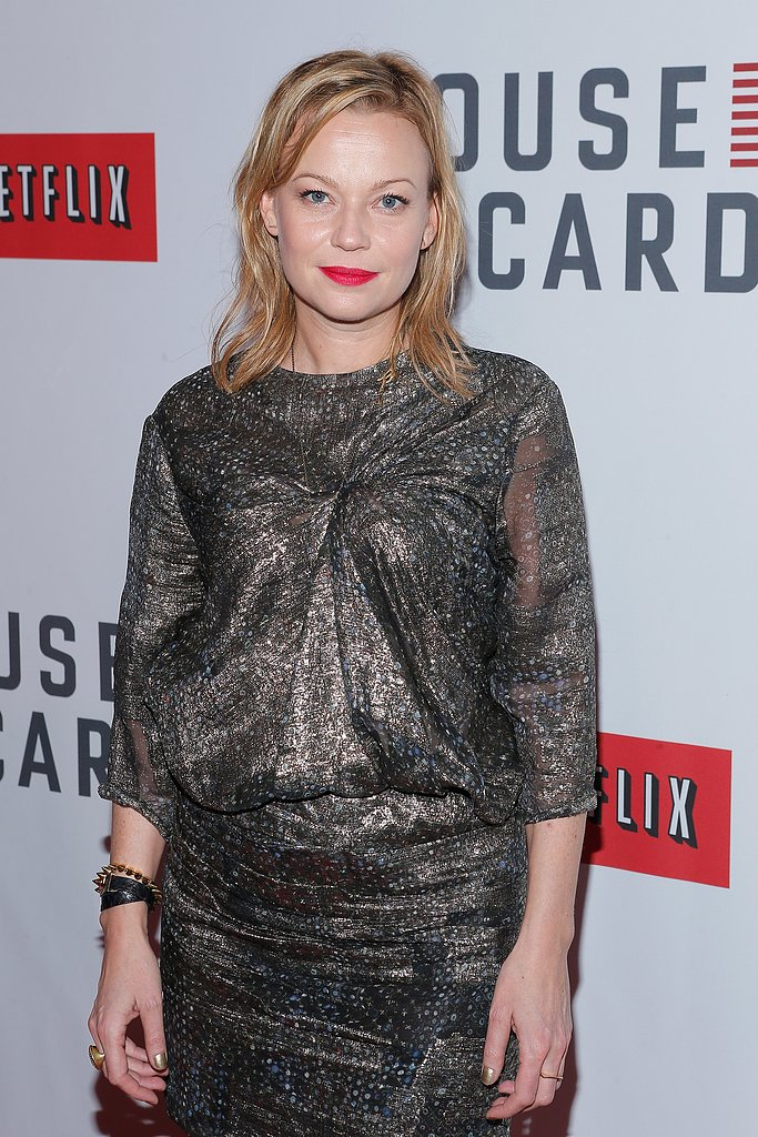 Samantha Mathis wore a metallic dress on the red carpet.