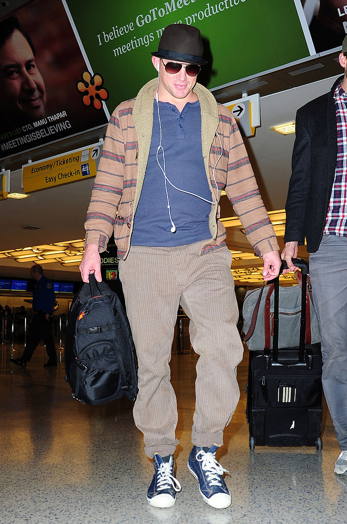 Channing Tatum arrived at JFK.