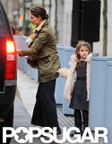 Katie Holmes and Suri Cruise got in an SUV.