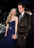 Amanda Seyfried and Eddie Redmayne laughed together during the SAG Awards.