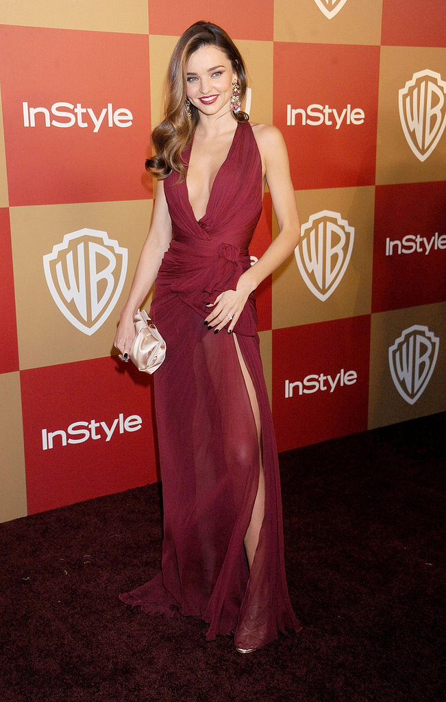 "On which celebrity he'd most like to see toting one of the new clutches: ""Miranda Kerr is stunningly beautiful. I think our handbag collection is well suited to her personal style."" Pictured here, Miranda stunned at the InStyle Golden Globes afterparty in a berry-hued Zuhair Murad number. We hope the next time we see her going all out on the evening glamour, she's toting one of Jerome's creations."