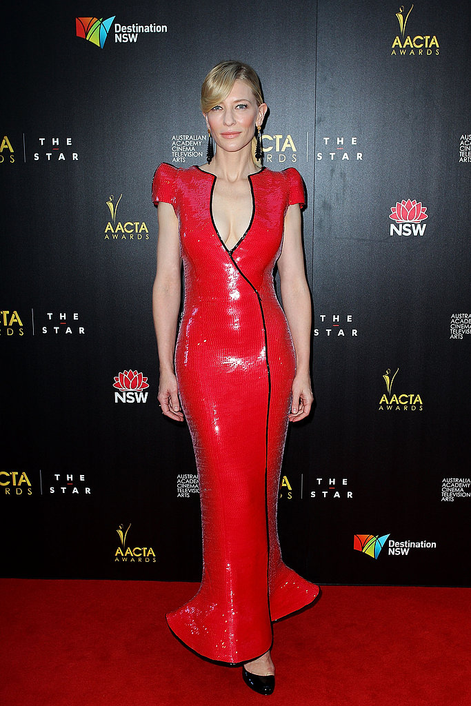 Cate Blanchett was her usual fashion-forward self when she walked the carpet at the AACTA Awards in Sydney on January 30.