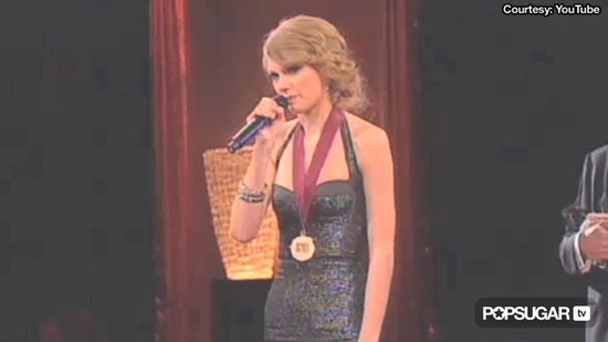 Video: Taylor Swift Holds Back Tears