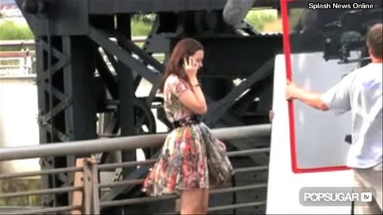 Video: Leighton Meester Juggles Gossip Filming & Music
