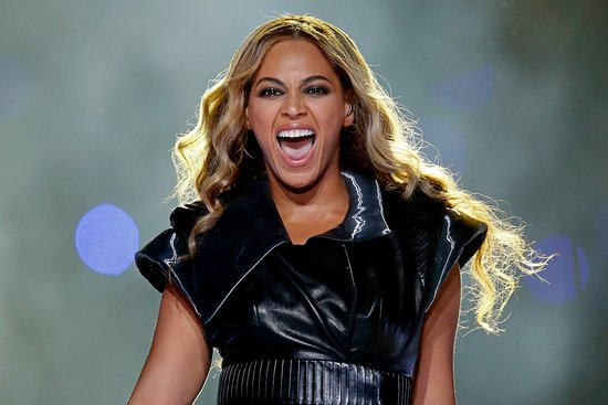 Beyoncé took the stage with this moto jacket topping her bustier.