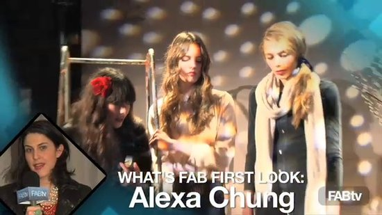 Alexa Chung for Madewell at New York Fall Fashion Week: What's Fab First Look