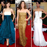 One of our favorite trends of the evening were all of the strapless gowns on the red carpet.