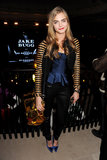 Cara Delevingne wore Burberry Spring '13 just as well out and about in London as she did on the catwalk.