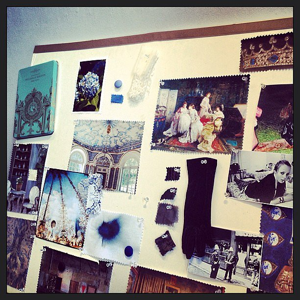 We couldn't take our eyes off of the gorgeous inspiration board at Nonoo.