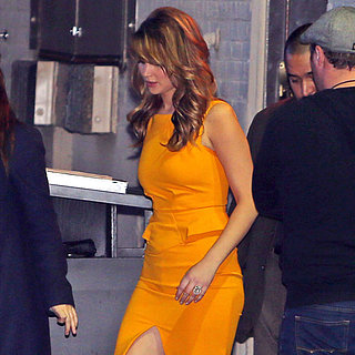 Jennifer Lawrence Wearing Yellow Dress
