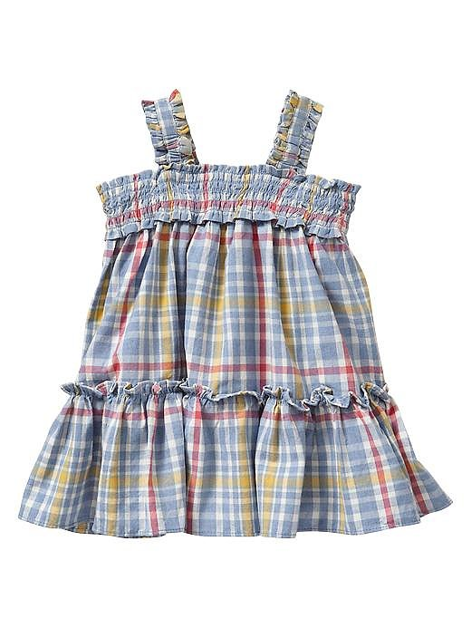 Baby Gap Smocked Plaid Dress