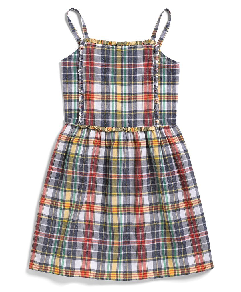 Brooks Brothers Madras Plaid Smocked Dress