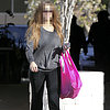 Actress Leaving Gym Carrying Pink Baggu Bag | Picture