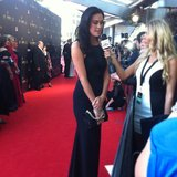 We're always amazing by how tall and beautiful Megan Gale is IRL. So statuesque!