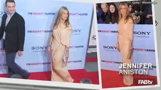 Jennifer Aniston, Kristen Bell, and Maggie Gyllenhaal in Nude Colors and Neutral Hues